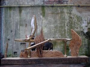 Le coursier dans le marécage