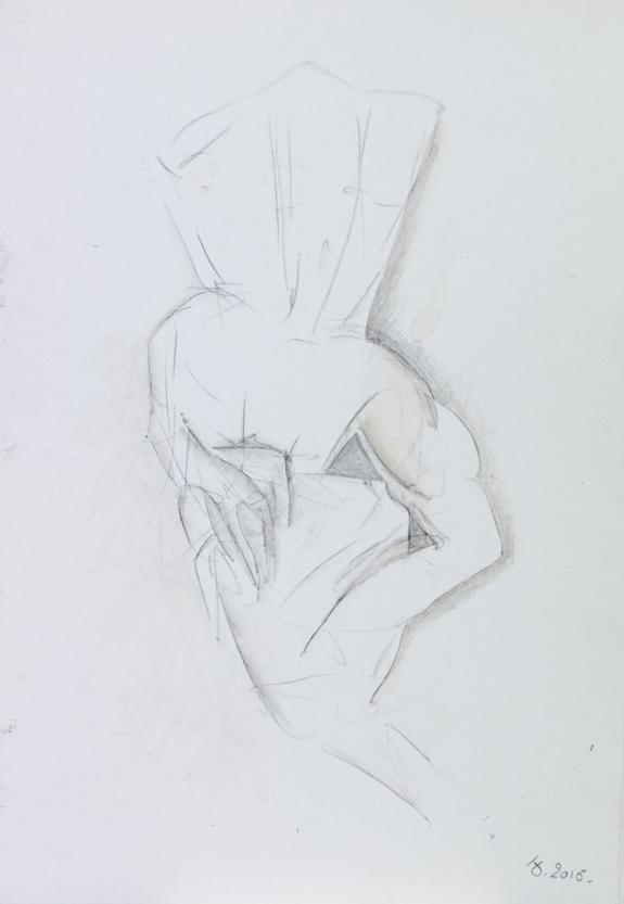 crayon aquarellé. 21,5x31,5 cm. 2015.