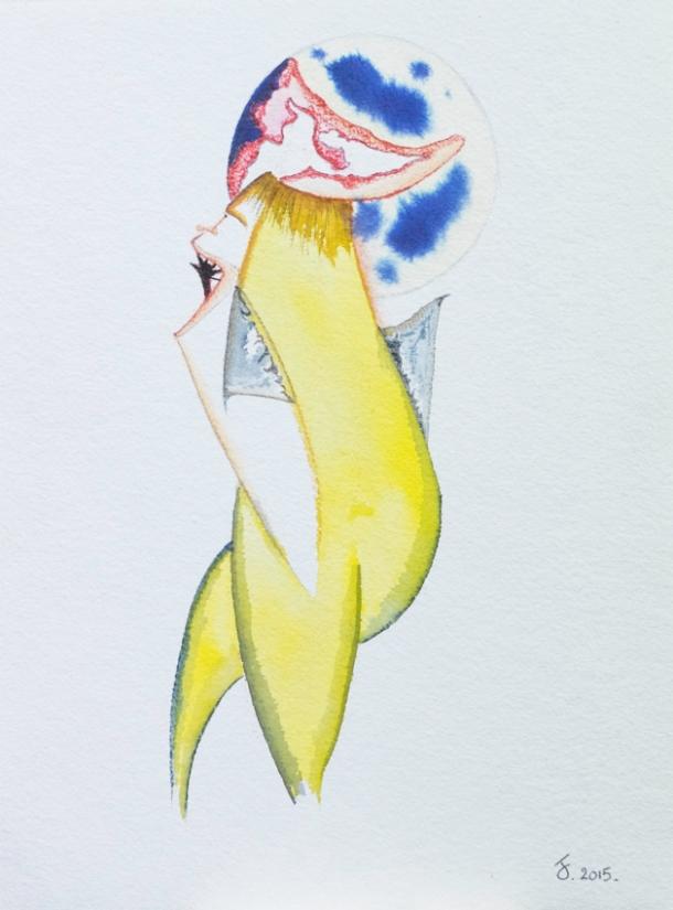 aquarelle et encres. 24,5x33 cm. 2015.