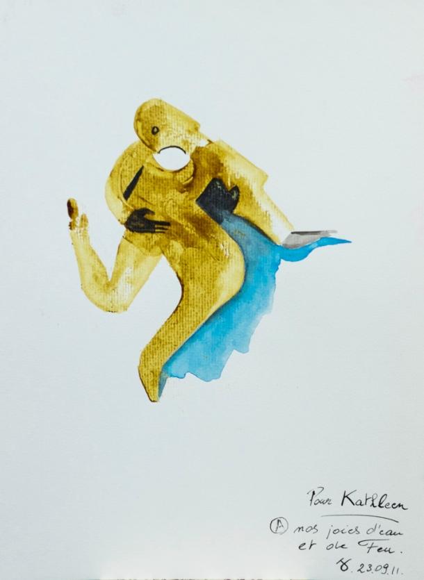 Aquarelle et encres s/Ingres 24x32; 23/09/2011.