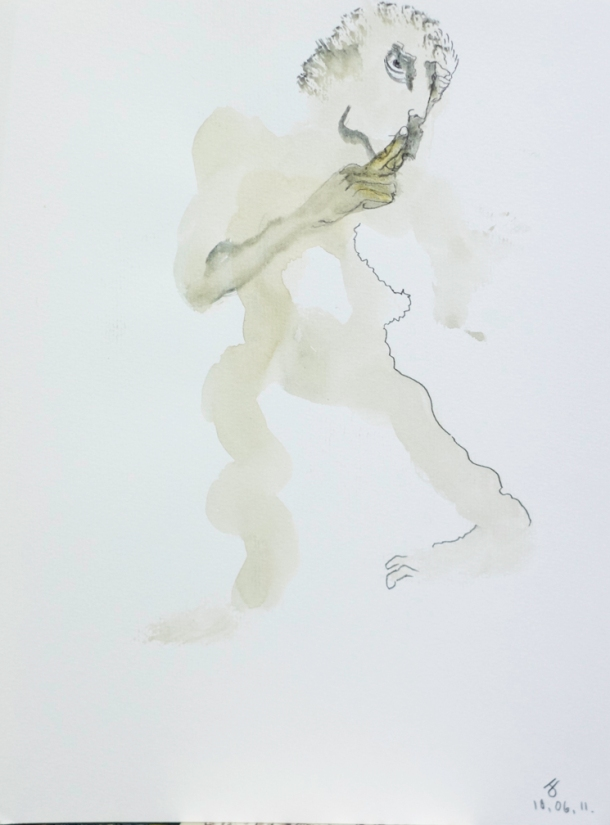 Aquarelle s/Ingres 24x32. 10/06/2011.
