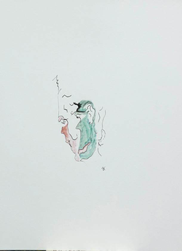 aquarelle et encre de chine s/Ingres 24x32. 2011.