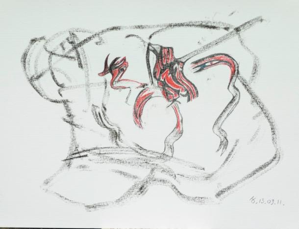 aquarelle et encre s/Ingres 24x32. 13/09/2011.