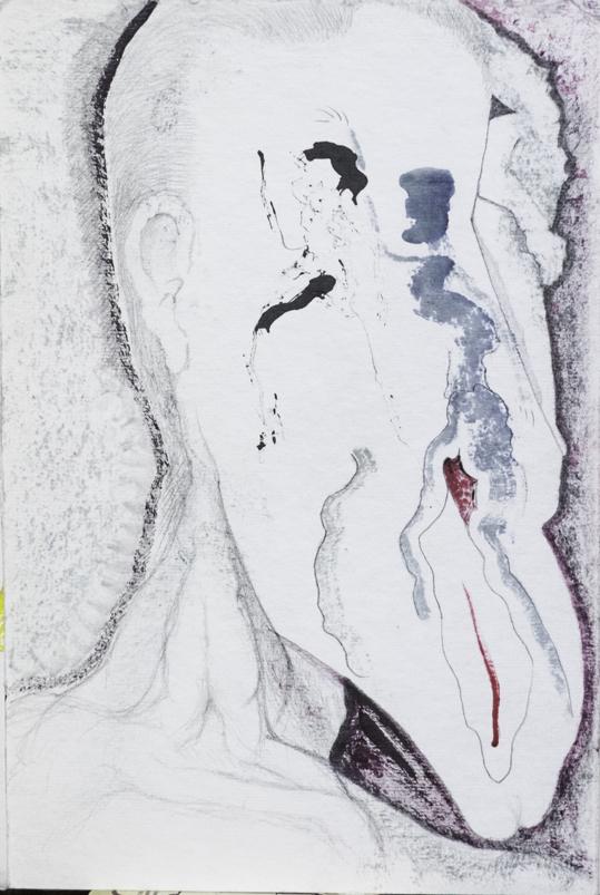 Aquarelle et encre. 20x30 cm. signé au dos.