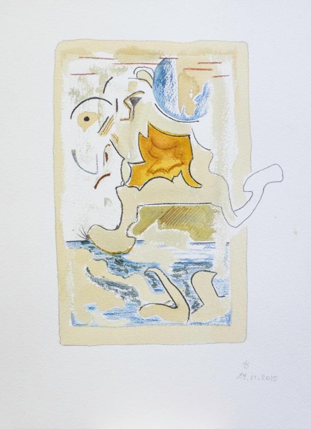 aquarelle, encre et café s/arches 300g. 28,5x38,5 cm. 29/11/2015.