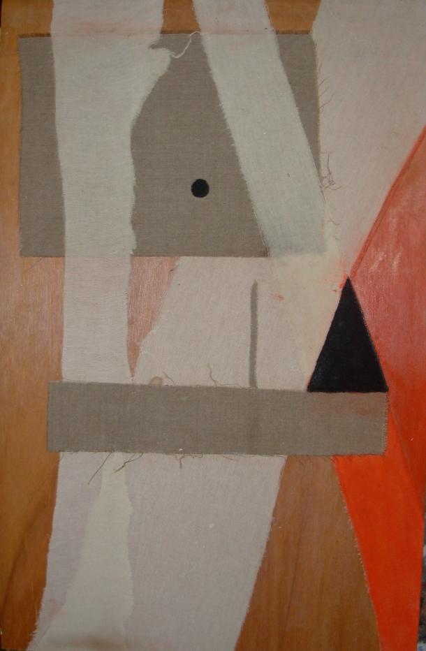 huile s/bois marouflé de toiles. 48x74 cm. 15/01/2015.