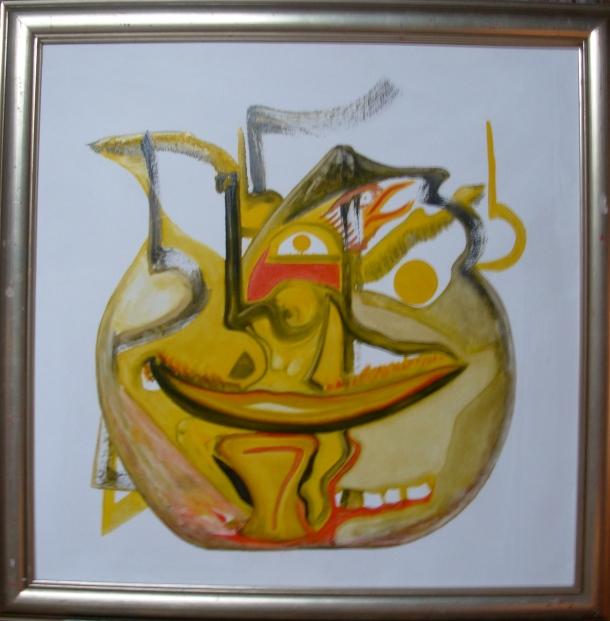 toile marouflée s/ bois. 74x74 cm. 20/01/2016.