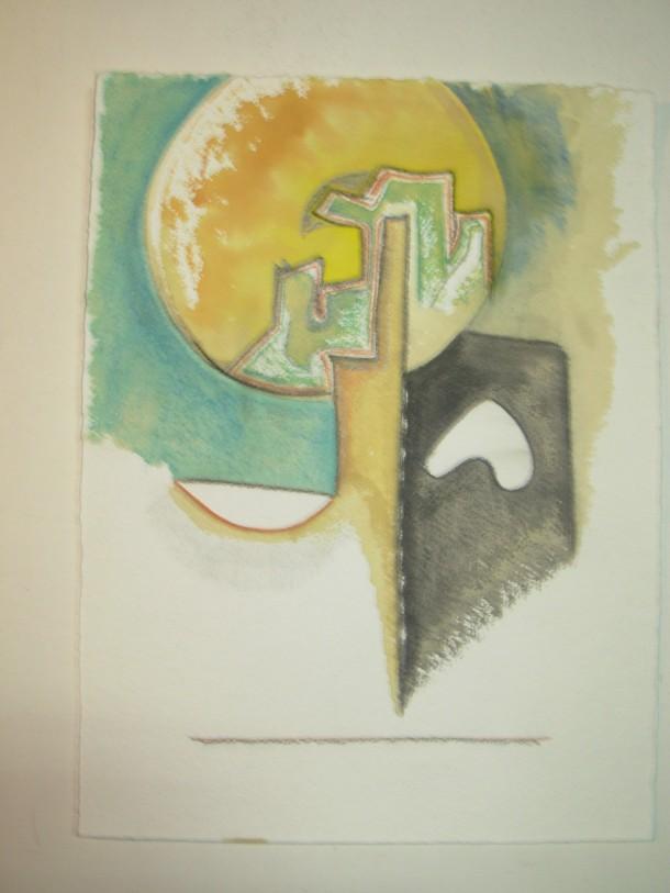 aquarelle s/papier 500 g. 25x33 cm. signé et daté au dos 25/02/2016.