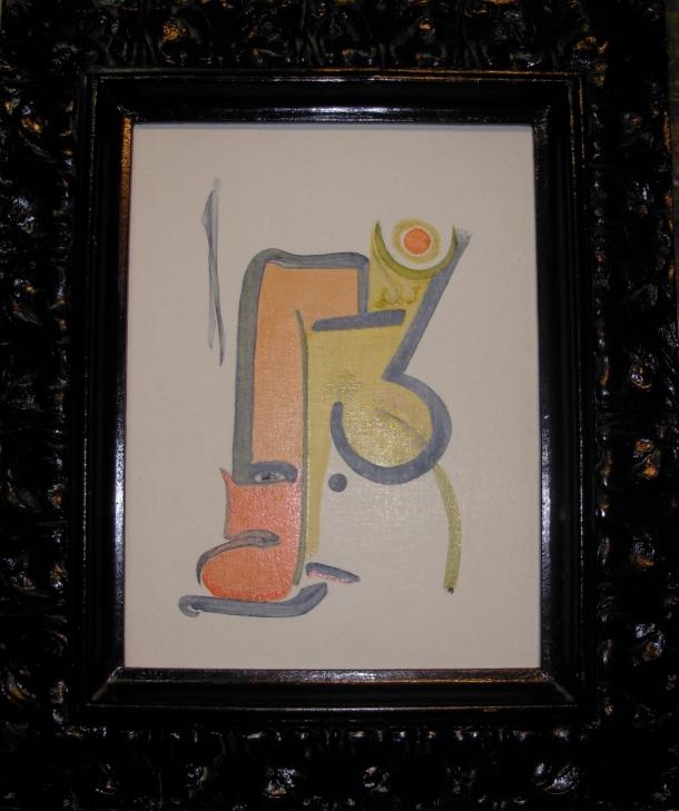 huile s/bois marouflé de toile. 30x40 cm. signé et daté au dos. 25/02/2016.