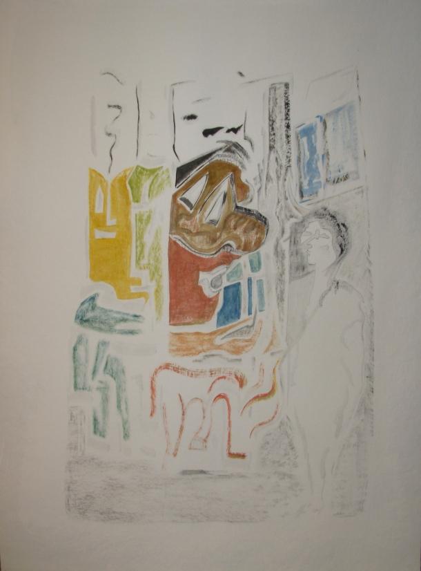 huile s/papierDe Geerts 500g. 60x80 cm.