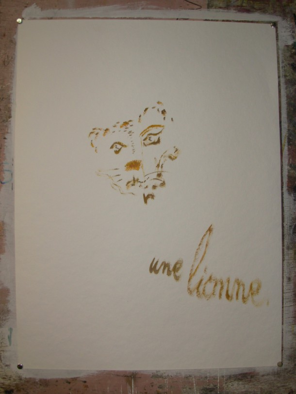 huile s/papier de Geerts 500g.  60x80 cm.