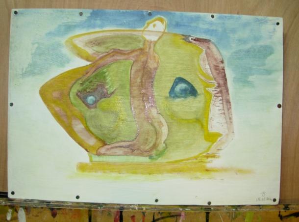 huile s/carton enduit monté sur bois. 25x36 cm. 18/02/2016.