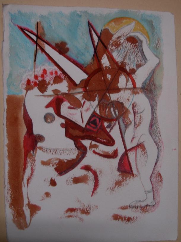 Aquarelle et encres s/arches 300 g. 28?5x38,5 cm. 21.03.2016.