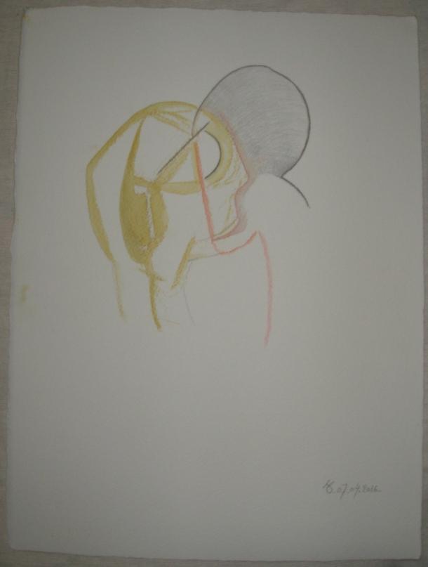 aquarelle encre et crayon s/arches 300 g. 28,5 x 38,5 cm. 07.04. 2016.