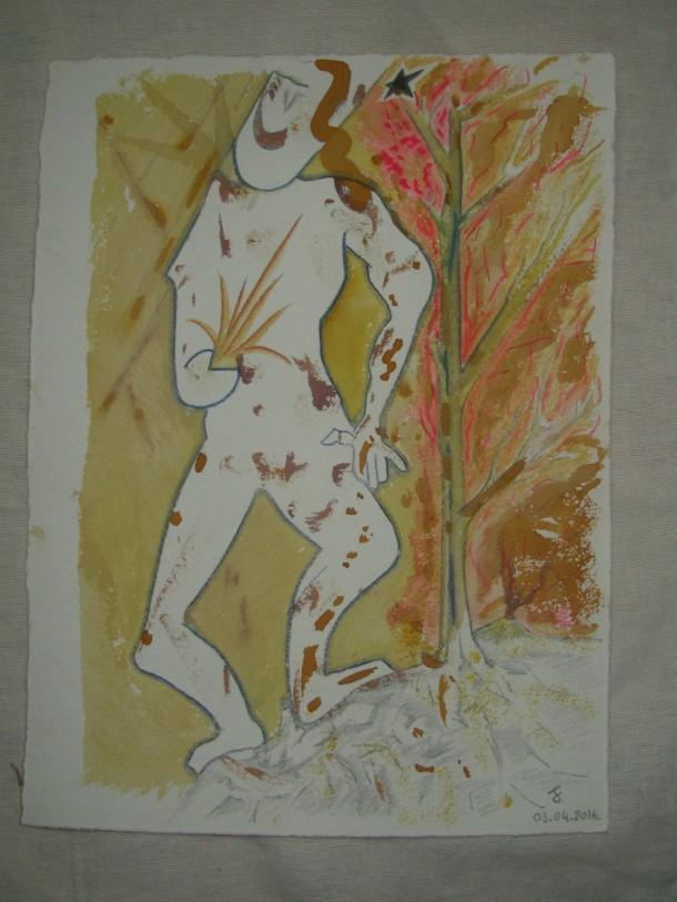 Encre et aquarelle s/de Geert 500 g. 24 x 33 cm. 03.04.2016.