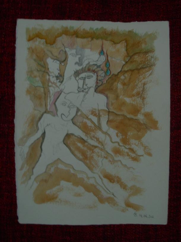 aquarelle et encre s/arches 300g. 28,5 x 38,5 cm. 14.04.2016.