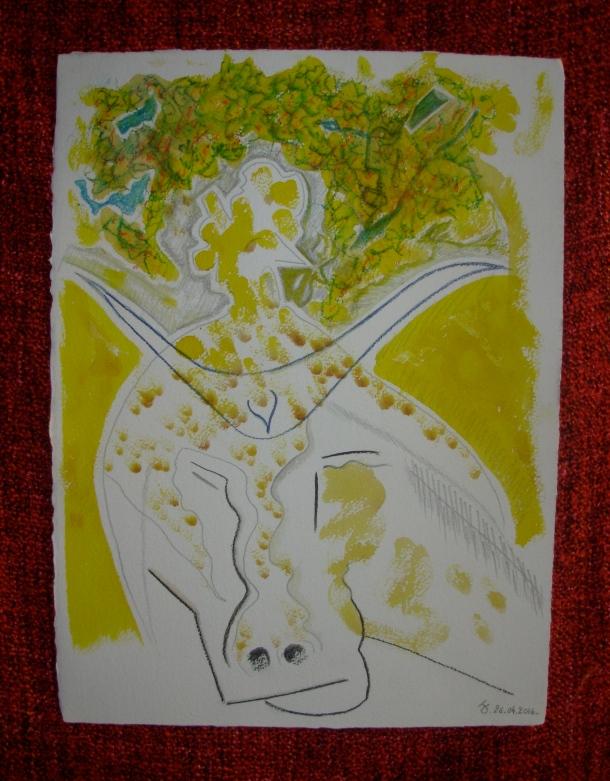 aquarelle et encre s/arches 300 g. 28,5 x 38,5 cm. 26. 04. 2016.