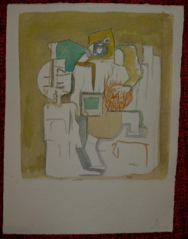 aquarelle et encre s/ de Geert. 25 x 33 cm. 01. 05. 2016.