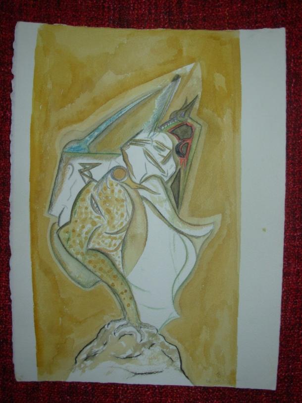 aquarelle et encres s/arches 300 g. 28,5 x 38,5 cm. 06. 05. 2016.