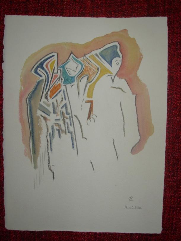 aquarelle et encre s/arches 300 g. 28,5 x 38,5 cm. 11. 05. 2016.