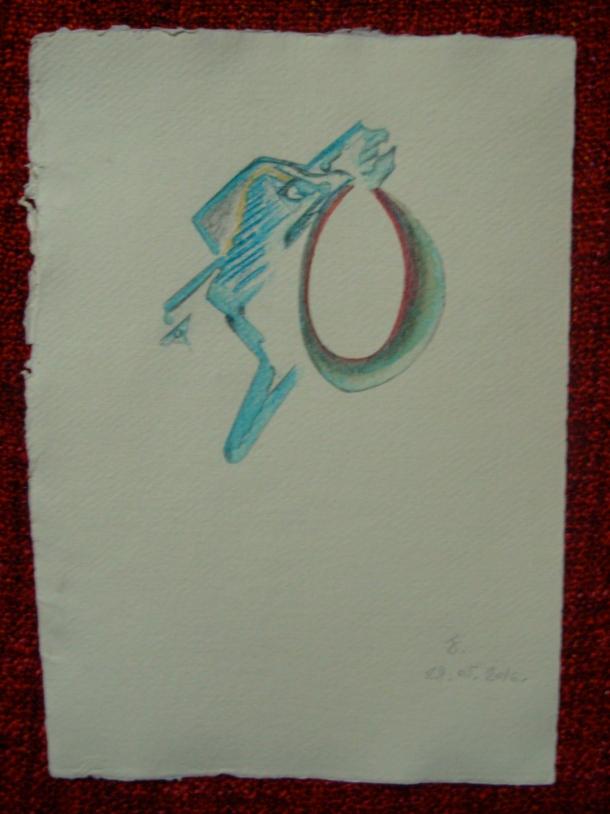aquarelle et encre s/papier 21 x 30 cm. 28. 05. 2016.