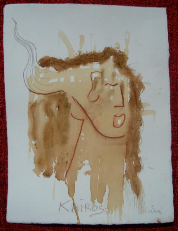 sanguine et café s/papier 30,5 x 40,5 cm. 08. 06. 2016.