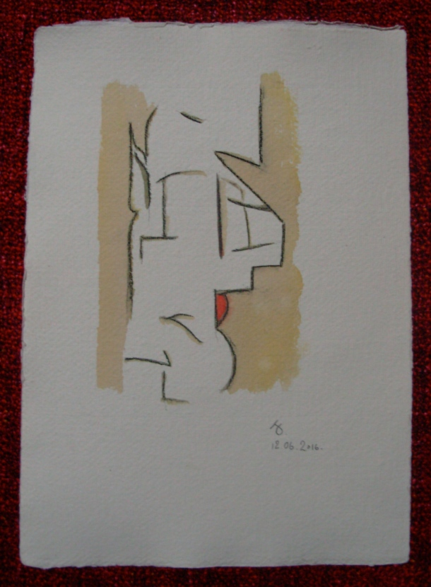 aquarelle et pierre noire s/papier 21,5 x 30,5 cm. 12. 06. 2016.