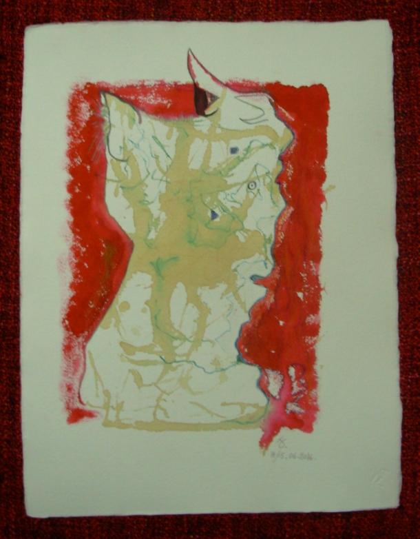 aquarelle, encre et café s/papier 30,5 x 40,5 cm. 16. 06. 2016.