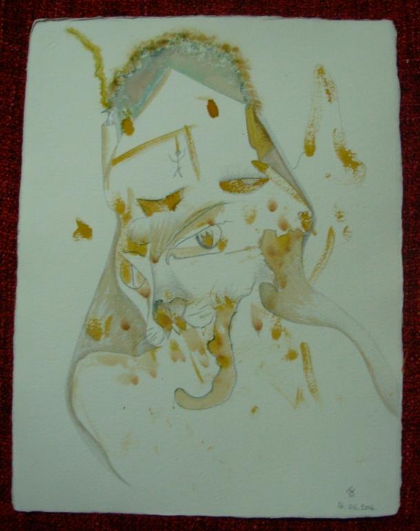 aquarelle et encre s/papier 30,5 x 40,5 cm. 16. 06. 2016.