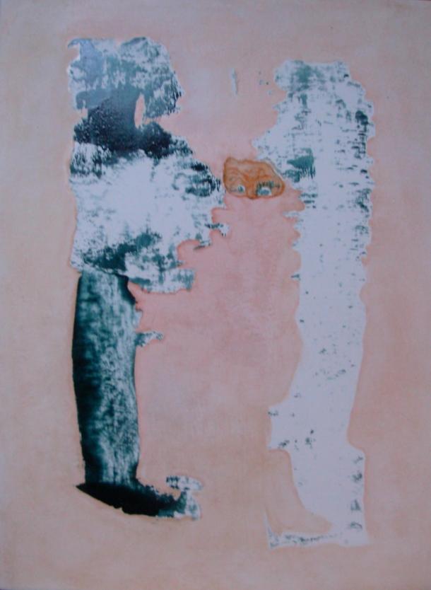 huile s/bois marouflé de toile 30 x 40 cm. 17. 06 2016.