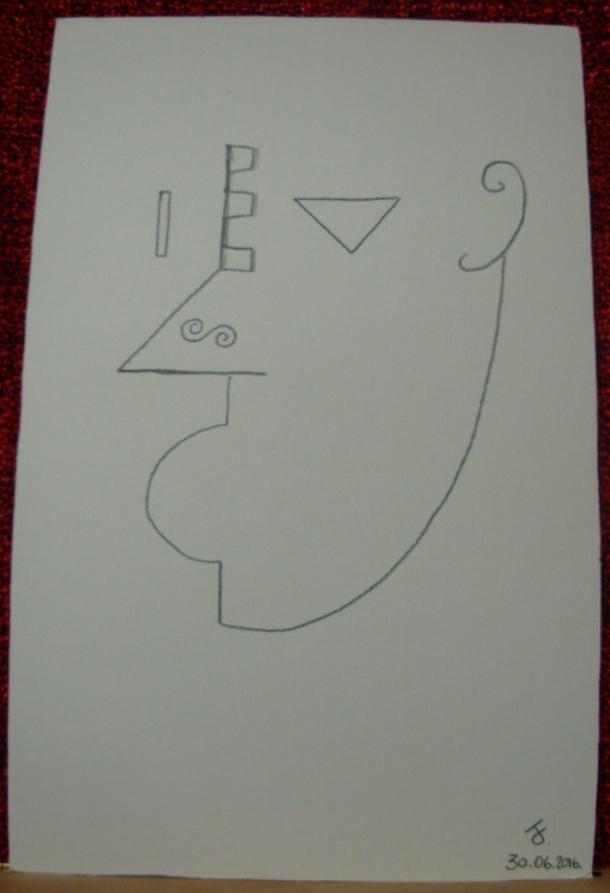 "crayon ""Negro"" s/carton Ingres. 19,5 x 30,5 cm. 30. 06. 2016."