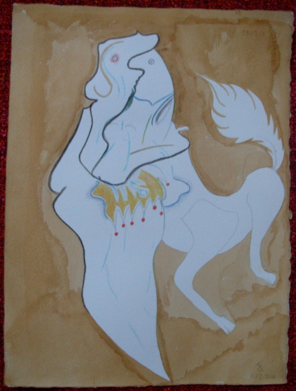 aquarelle et café s/arches 300g. 28,5 x 38,5 cm. 11. 07. 2016.