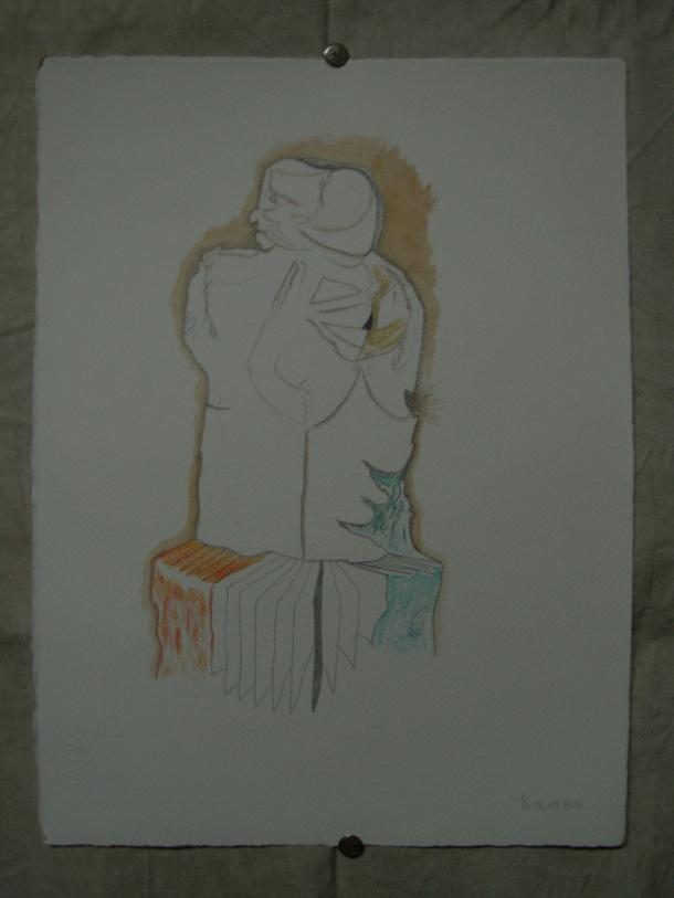aquarelle et crayon s/arches 300g. 28,5 x 38,5 cm. 06. 08. 2016.