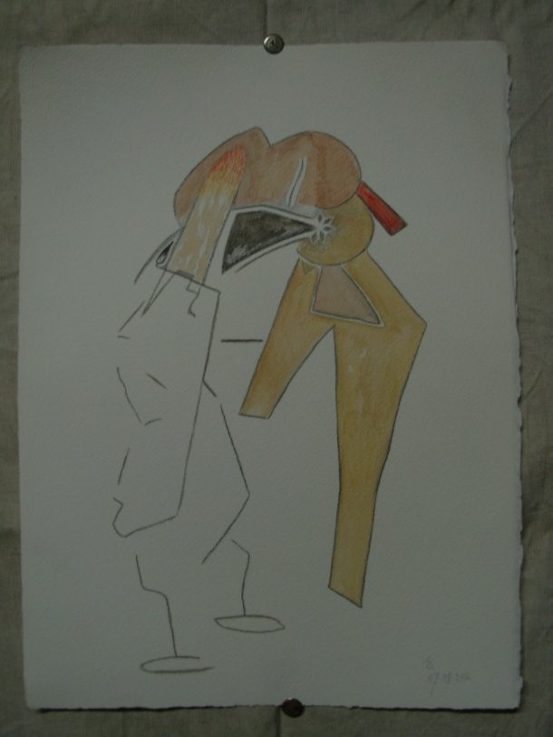aquarelle et crayon s/arches 300 gr. 28,5 x 38,5 cm. 07. 08. 2016.