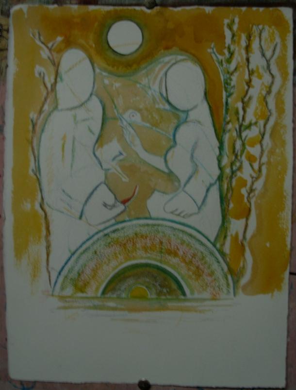 Encre, aquarelle et café s/arches 300g. 28,5 x 38,5 cm. 17. 09. 2016.