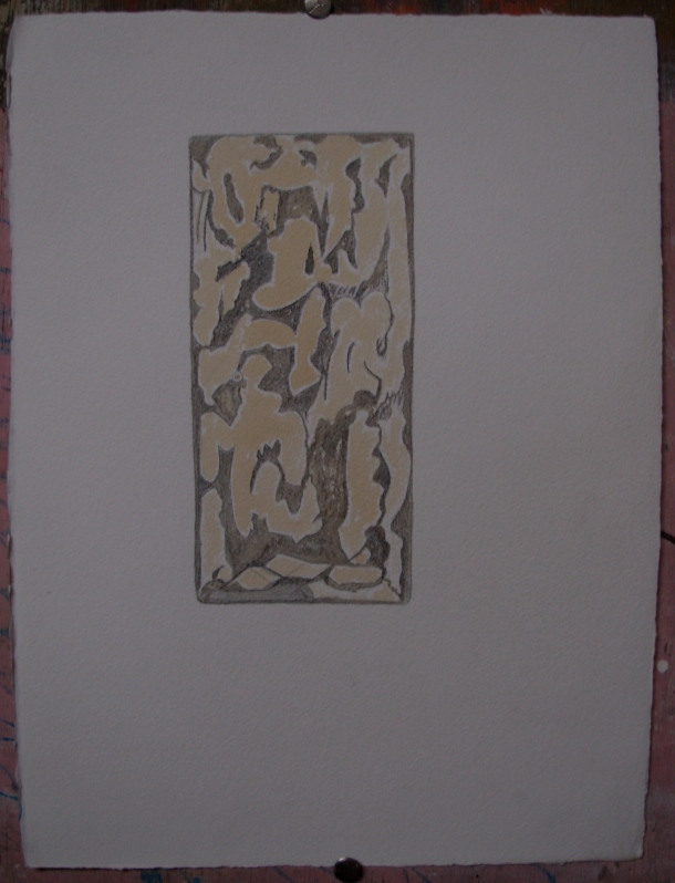 crayon et café s/arches 300 g; 28,5 x 38,5 cm. 27. 09. 2016.