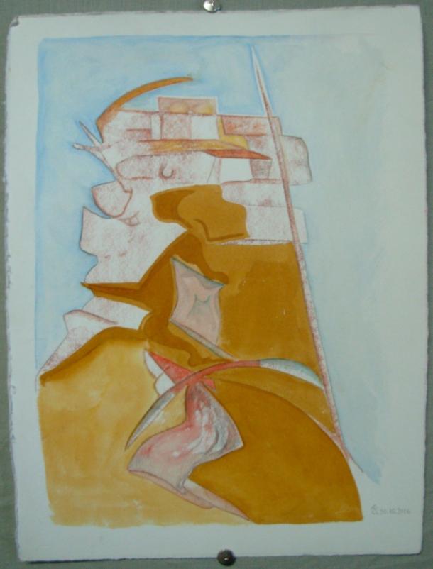 sanguine, encre et aquarelle s/Fabriano. 28,5 x 38,5 cm. 30. 10. 2016.