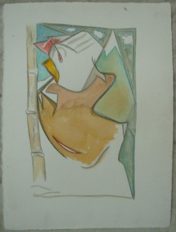aquarelle et ebcre s/arches 300g. 28,5 x 38,5 cm. 06. 11. 2016.