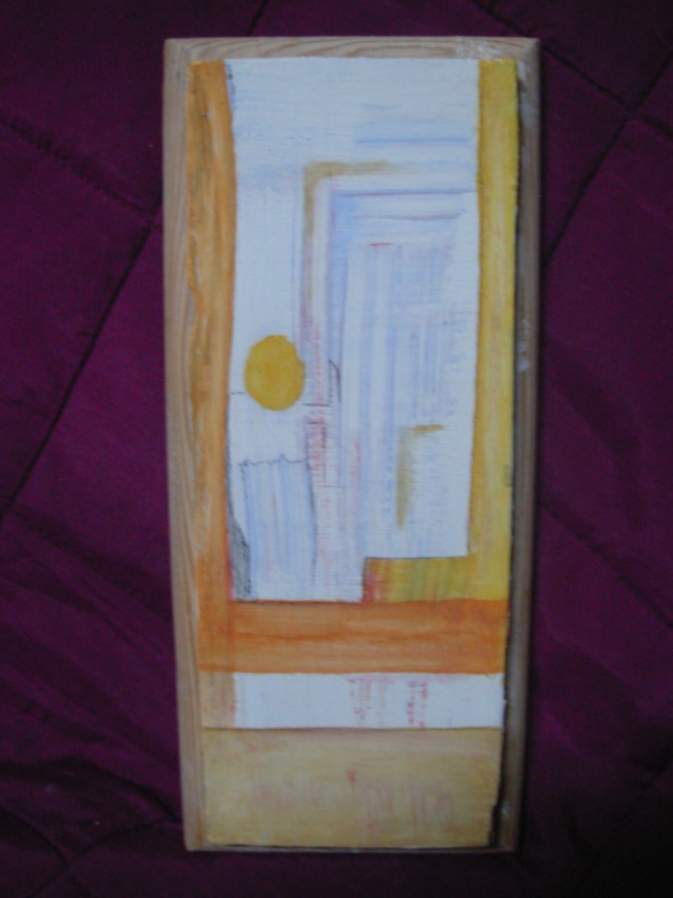 huile s/bois enduit. 9,5 x 21,5 cm. 07. 11. 2016.