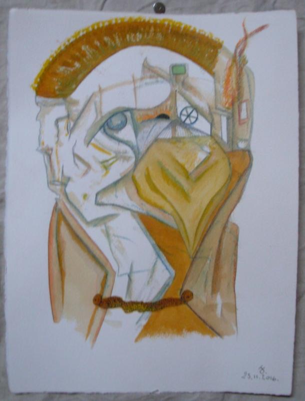 aquarelle et encres s/arches 300 G. 28,5 x 38,5 cm. 25. 11. 2016.