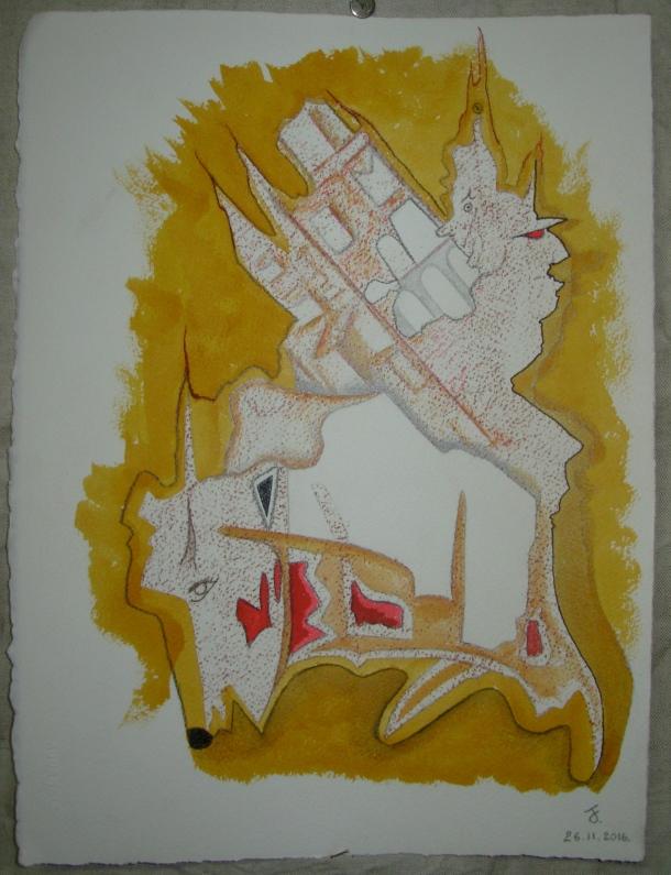 craie grasse et encres s/arches 300g. 28,5 x 38,5 cm. 26. 11. 2016.