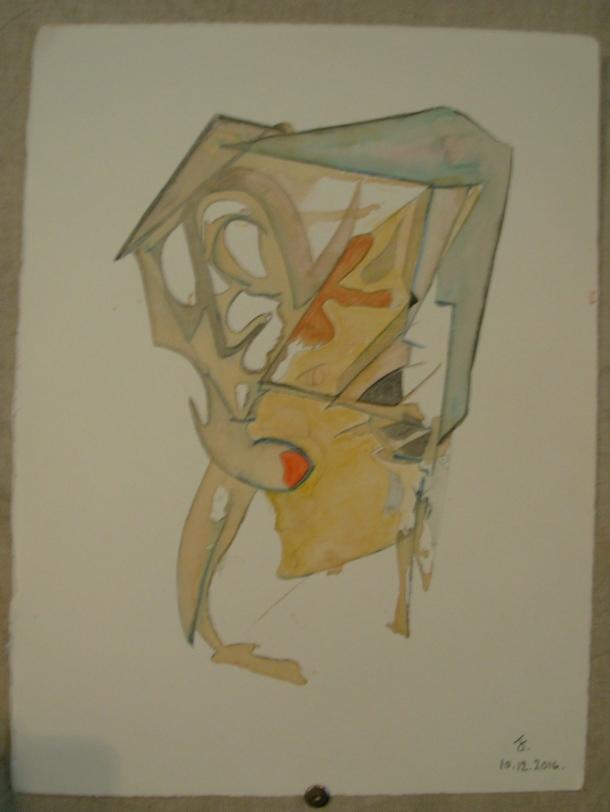 aquarelle et encre s/Fabriano. 28,5 x 38,5 cm. 10. 12; 2016.
