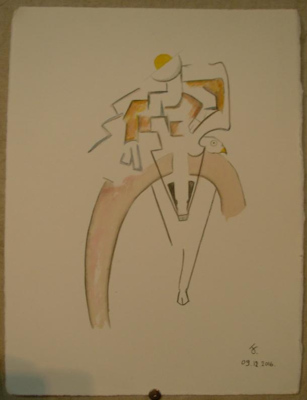 aquarelle s/ Fabriano. 28 x x38,5 cm. 09. 12. 2016.