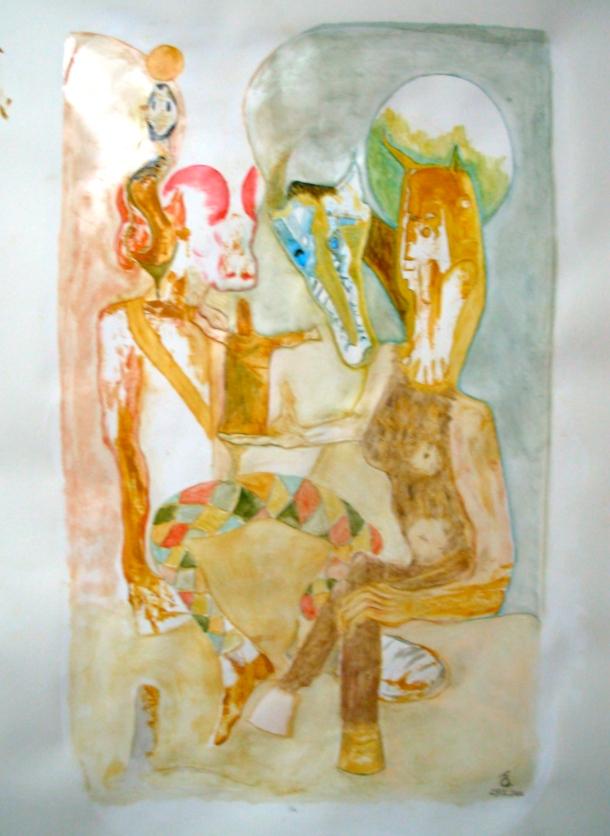 huile s/papier enduit. 70 x 100 cm. 29. 12. 2016.