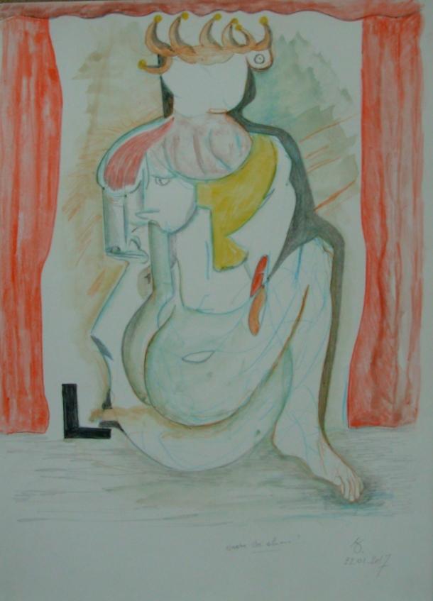 aquarelle s/papier. 26 x 35 cm. 22. 01. 2017.