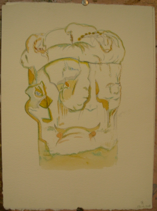 aquarelle et encre s/fabriano 300g. 28 x 38 cm. 23. 02. 2017.